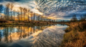 Clouds And River #11799