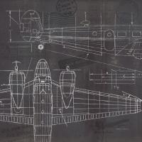 Plane Blueprint II #14259-24x24