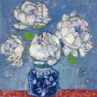 Vase of Peonies #23383