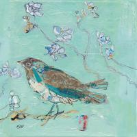 Aqua Bird with Teal #48478