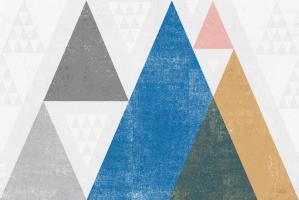 Mod Triangles I Gray #42833