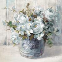 Garden Blooms I Blue Crop #44811-16x16