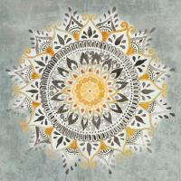 Mandala Delight I Yellow Grey #45668