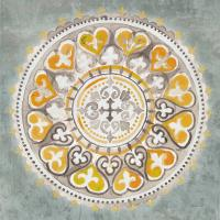 Mandala Delight III Yellow Grey #45670