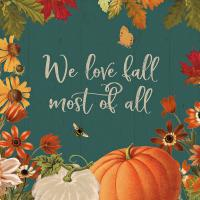 Fall Garden II Teal #46298