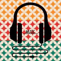 Headphones Music Retro #50938