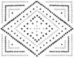 Daisy Dots Tile II Black #56944