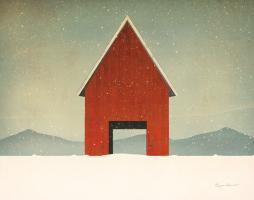 Red Barn Winter #58423
