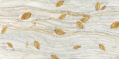 Golden Fossil Leaves #59942