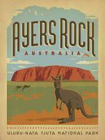 VINTAGE ADVERTISING AYRES ROCK ULURU NORTHERN TERRITORY KAGAROO AUSTRALIA #JOEAND 116751