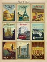 VINTAGE ADVERTISING ROME PARIS MADRIS BARCELONA BAVARIA LONDON VENICE ATHENS BERLIN #JOEAND 116770