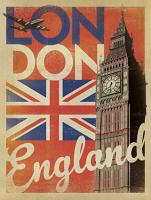 VINTAGE ADVERTISING BIG BEN LONDON ENGLAND UNION JACK #JOEAND 116790