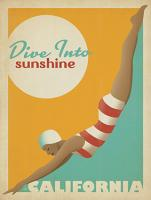VINTAGE ADVERTISING DIVE IN TO SUNSHINE CALIFORNIA USA #JOEAND 116829