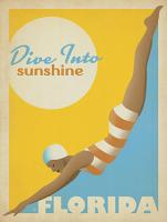 VINTAGE ADVERTISING DIVE IN TO SUNSHINE FLORIDA USA #JOEAND 116830