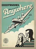 VINTAGE ADVERTISING TRAVEL PLANE USA #JOEAND 116842