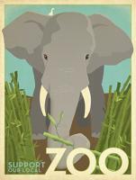Zoo vintage elephant #JOEAND116846
