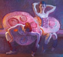Seated Dancers in Rose #82214