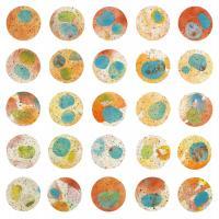 Orange & Green Circles #71409