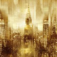 NYC - Reflections in Gold I #KC112670