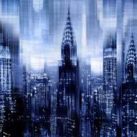 NYC - Reflections in Blue I #KC112672