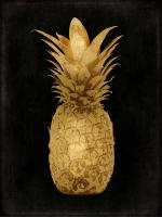 Gold Pineapple on Black I #KTB114253