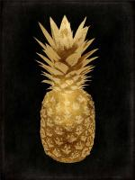 Gold Pineapple on Black II #KTB114254