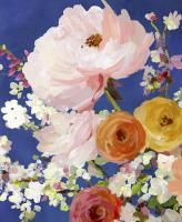 Midnight Garden Flowers I #PS327-A