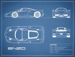 Ferrari Enzo-Blue #RGN112742