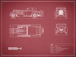 Mercedes SSK-Maroon #RGN112770