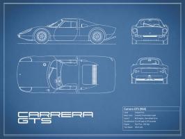 Porsche Carrera GTS-Blue #RGN112784