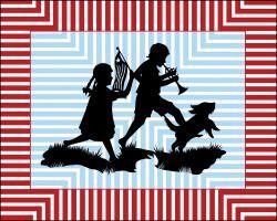 Patriotic Boy and Girl #76045