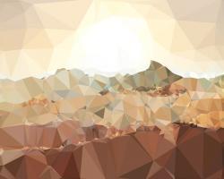Faceted Desert 1 #100586