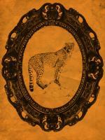 Framed Cheetah in Tangerine #89765