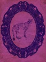 Framed Cheetah in Violet #89766