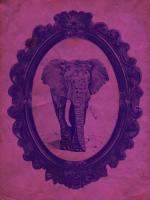 Framed Elephant in Violet #89769