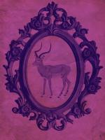 Framed Gazelle in Violet #89772