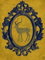 Framed Gazelle in Yellow #89773