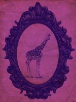 Framed Giraffe in Violet #89775