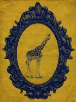 Framed Giraffe in Yellow #89776