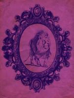 Framed Lion in Violet #89778