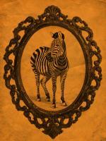 Framed Zebra in Tangerine #89783