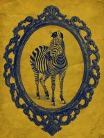 Framed Zebra in Yellow #89785