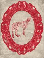 Framed Cheetah in Crimson #89788