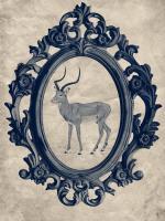 Framed Gazelle in Navy #89792