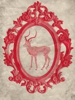 Framed Gazelle in Crimson #89794