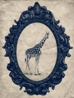 Framed Giraffe in Navy #89795