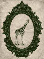 Framed Giraffe in Evergreen #89796