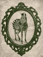 Framed Zebra in Evergreen #89805