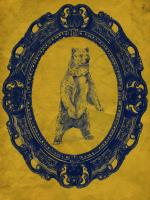 Framed Grizzly Bear in Yellow #89809