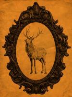 Framed Elk in Tangerine #89816